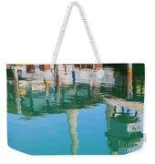 Water Reflections Of Morro Bay  Dock Weekender Tote Bag