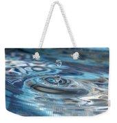 Water Sculpture In Blue 1 Weekender Tote Bag