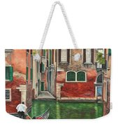 Water Taxi On Venice Side Canal Weekender Tote Bag