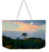 Water Tower In Orange Sunset Weekender Tote Bag