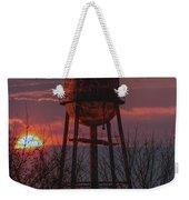 Water Tower Sunset Weekender Tote Bag