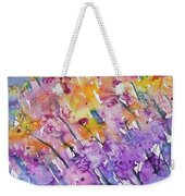 Watercolor - Abstract Flower Garden Weekender Tote Bag