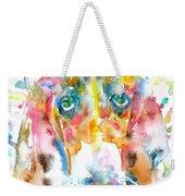 Watercolor Basset Hound Weekender Tote Bag