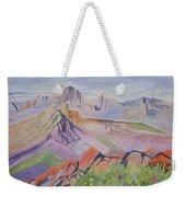 Watercolor - Blanca And Ellingwood Landscape Weekender Tote Bag