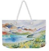 Watercolor - Colorado Alpine Landscape Weekender Tote Bag