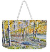 Watercolor - Colorado Autumn Forest And Landscape Weekender Tote Bag