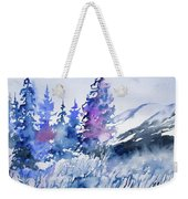 Watercolor - Colorado Winter Wonderland Weekender Tote Bag