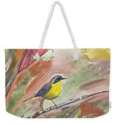 Watercolor - Common Yellowthroat Weekender Tote Bag