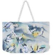 Watercolor - Crane Ballet Weekender Tote Bag