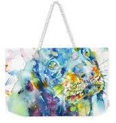 Watercolor Dachshund Weekender Tote Bag