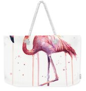 Watercolor Flamingo Weekender Tote Bag
