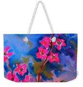 Watercolor Flowers Weekender Tote Bag