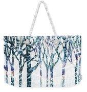 Watercolor Forest Silhouette Winter Weekender Tote Bag
