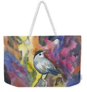 Watercolor - Gray Catbird Weekender Tote Bag