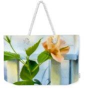Watercolor Hibiscus Weekender Tote Bag