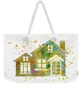 Watercolor Houses Weekender Tote Bag