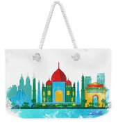 Watercolor Illustration Of Delhi Weekender Tote Bag