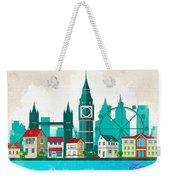 Watercolor Illustration Of London Weekender Tote Bag