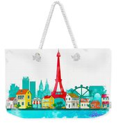 Watercolor Illustration Of Paris Weekender Tote Bag