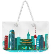 Watercolor Illustration Of Seoul Weekender Tote Bag