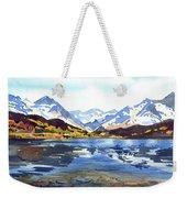 Watercolor Lake Reflection Weekender Tote Bag