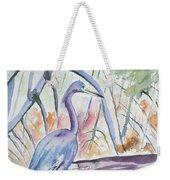 Watercolor - Little Blue Heron In Mangrove Forest Weekender Tote Bag