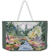 Watercolor - Long's Peak Autumn Landscape Weekender Tote Bag