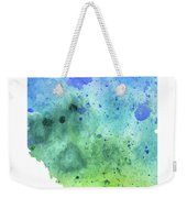 Watercolor Map Of Alberta, Canada In Blue And Green  Weekender Tote Bag