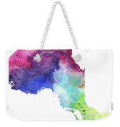 Watercolor Map Of Ontario, Canada In Rainbow Colors  Weekender Tote Bag