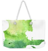Watercolor Map Of Quebec, Canada In Green  Weekender Tote Bag