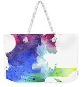 Watercolor Map Of Quebec, Canada In Rainbow Colors  Weekender Tote Bag