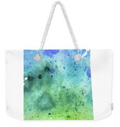 Watercolor Map Of Saskatchewan, Canada In Blue And Green  Weekender Tote Bag