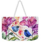 Watercolor - Masked Flowerpiercers With Flowers Weekender Tote Bag