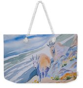 Watercolor - Mountain Goats On Quandary Weekender Tote Bag
