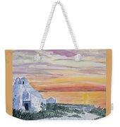 Watercolor - Mykonos Sunset Weekender Tote Bag