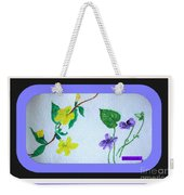 Watercolor Of Wild Flowers Weekender Tote Bag