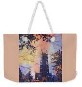 Watercolor Painting Of Duke Chapel On The Duke University Campus Weekender Tote Bag