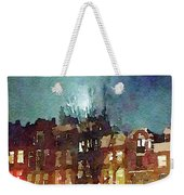 Watercolor Painting Of Spooky Houses At Night Weekender Tote Bag