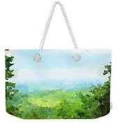 Watercolor Painting Of The English Countryside Weekender Tote Bag