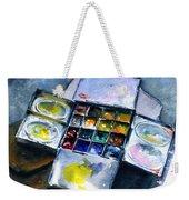 Watercolor Pallet Weekender Tote Bag