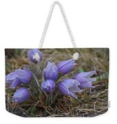 Watercolor Pasque Flowers Weekender Tote Bag