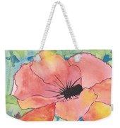 Watercolor Poppy Weekender Tote Bag