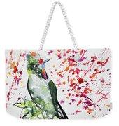 Watercolor - Rainbow Bearded Thornbill Weekender Tote Bag
