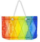 Watercolor Rainbow Pattern Geometric Shapes Triangles Weekender Tote Bag