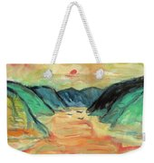 Watercolor River Scenery Weekender Tote Bag