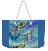 Watercolor - Sea Turtles Swimming Weekender Tote Bag