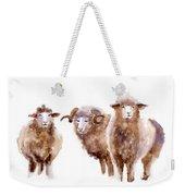 Watercolor Sheep Weekender Tote Bag