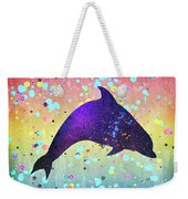Watercolor Silhouette - Dolphin  Porpoise Weekender Tote Bag
