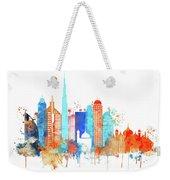 Watercolor Skyline Of Dubai Weekender Tote Bag