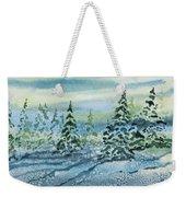 Watercolor - Snowy Winter Evening Weekender Tote Bag